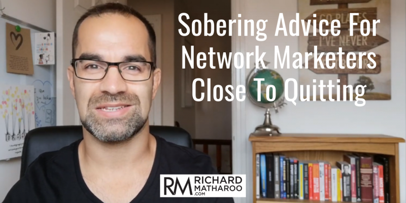 time to quit network marketing